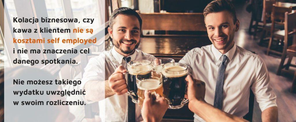 Nie możesz odliczyć, jako slef employed kosztów kolacji biznesowej, czy kawy z klientem.
